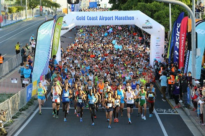Gold Coast Marathon start line