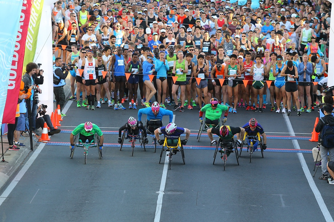 Wheelchair 15km start line