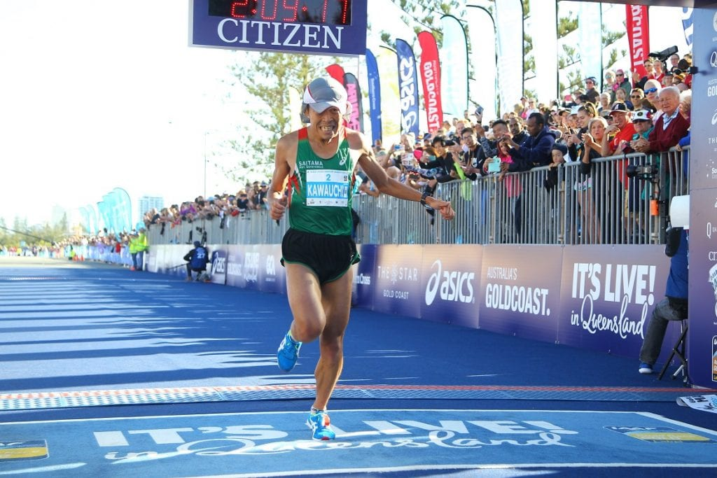 2017 Gold Coast Airport Marathon third placegetter Yuki Kawauchi will represent Japan in the marathon at the IAAF World Championships