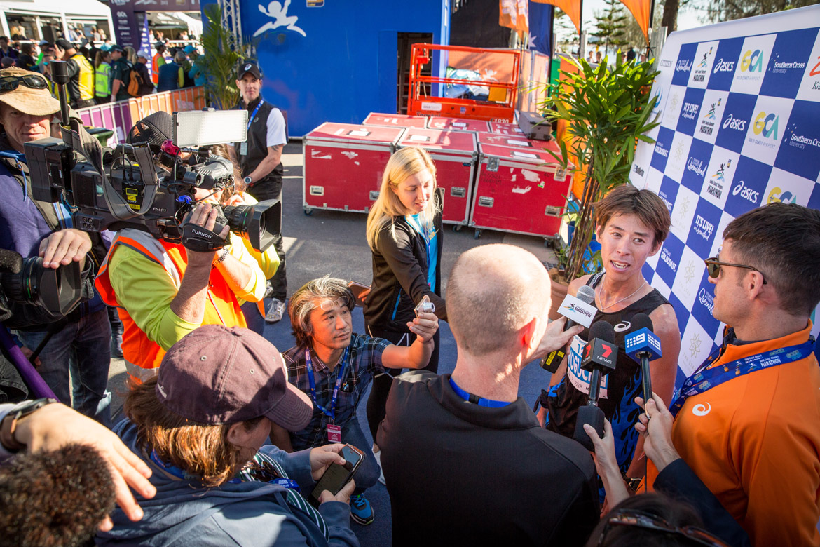 Media at the Gold Coast Marathon